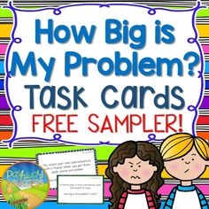 Free Sampler - How Big is My Problem? Task Cards for elementary kids - Problem solving situations and rating problems from 0 to 5.
