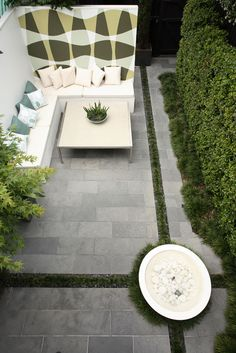 gardens in terraces can be quite small, but can be made into interesting spaces.