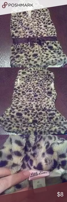 Animal print girls vest This is so soft. Has two snaps to keep it close. Little Lass Jackets & Coats Vests