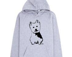 West Highland Terrier Hoodie, Westie Dog, Dog Lover Gift, Cool Hoodies, Westie Owner Gift, Unisex Hoodie, Oversized Jumper, Quirky Clothing