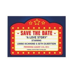 theater wedding Save the date