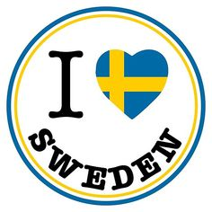 'I Love Sweden, Sverige, circle' by Alma-Studio Fridge Stickers, Laptop Stickers, Car Bumper Stickers, Uppsala, Gifts Under 10, European History, Laptop Covers, Lidl, Printable Stickers