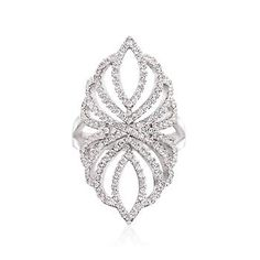 Ross-Simons - 2.00 ct. t.w. CZ Openwork Ring in Sterling Silver - #842914