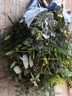 <2014'noël*ナチュラル・スワッグ>今年の素敵なクリスマスを迎えるために森の香り心地よい フレッシュのドア・スワッグを・・・今季限定の商品です・・・*数種の美しいグリーンとグリーン色の実が宝石…