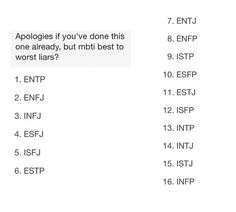 Finally, something promising! INTJs aren't very good liars, so that means, as a ENFP, it should be even easier to see right through him.