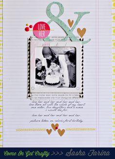 Sasha Farina, I love the simplicity of this page.