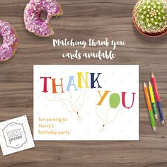 Matching Thank You cards now available with some of my birthday invitations 🎈