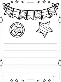 Soy escritror soy escritora (17) Preschool Writing, Preschool Worksheets, Primary Lessons, Borders And Frames, Teacher Tools, Cartoon Pics, Note Paper, Writing Paper, Doodle Drawings