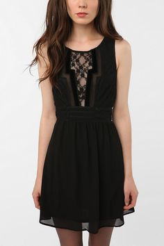 Staring at Stars Chiffon Geo Trim Dress (online only) - Urban Outfitters - $79.00