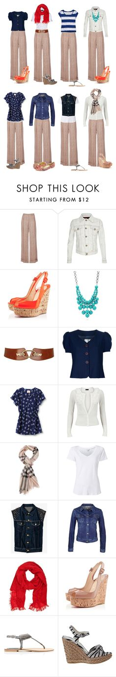Capsule Wardrobe -- S1 by cocogolightly on Polyvore featuring Quiksilver, Vero Moda, Abercrombie & Fitch, Witchery, School Rag, R13, Forever 21, A.F. Vandevorst, Christian Louboutin and Stuart Weitzman