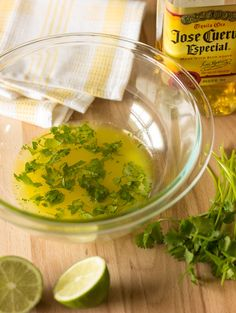 Tequila Lime Marinade - Easy recipe for adding flavor to chicken, steak, fish, or vegetables.