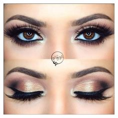10 Bridal Eye Makeup Ideas You Just Can't Miss ❤ liked on Polyvore featuring beauty products, makeup and eye makeup