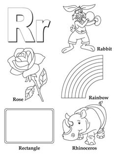 Words From R Free Alphabet Coloring Pages