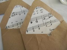 Brown Bag Vintage Music sheet Handmade envelopes and seals Homemade Envelopes, Homemade Cards, Diy Paper, Paper Crafts, Diy Crafts, Vintage Music, Card Envelopes, Brown Bags, Antique Books