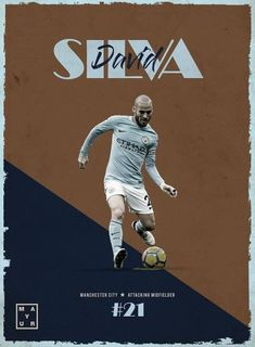 david silva manchester city football poster design and edit