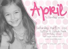 Girl Birthday Invitation by xxLVE on Etsy, $14.00 VISIT: http://www.etsy.com/shop/xxLVE