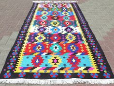 Anatolia Turkish Antalya Nomads Kilim x Area Rug Kelim Carpet by RhythmOfTheRug on Etsy Turkish Kilim Rugs, Antalya, Rugs On Carpet, Bohemian Rug, Area Rugs, Colours, Antiques, Etsy, Vintage