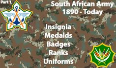 South African Army - Insignia, Medals, Badges and Uniforms: 1890 - Present Military Insignia, Military Police, Army, My Heritage, Africans, Genealogy, Badges, Air Force, Google Search