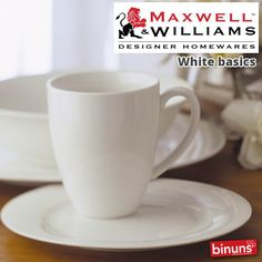 MAXWELL & WILLIAMS WHITE BASICS At Binuns Maxwell & Williams' White Basics collection has style and elegance and is perfect everyday tableware.  The entire range is oven, microwave and dishwasher safe.  http://www.binuns.co.za/en-za/brands/maxwellwilliams/whitebasics.aspx