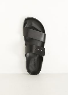 Woman by Common Projects Double Strap Sandal (Black)