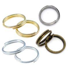 100 Spaltringe 7mm silber gold bronze schwarz Binderinge Doppel Ringe | Spaltringe | Biegeringe und Spaltringe | Bacabella Perlen und Schmuckzubehör