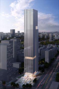 Bravo Pazhou Tower Seeks To Unite Two Programs Into A Single Composition | Aedas - eVolo | Architecture Magazine