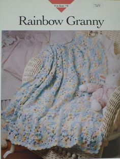Rainbow Granny Afghan pattern  Vanna's  765 by CarolsCreations77, $2.50