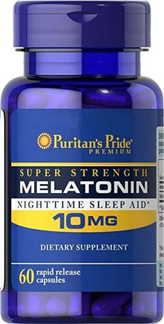 Puritan's Pride Night Time Sleep Aid Melatonin 10 Mg, 60 Capsules Best Natural Sleep Aid, Help Me Fall Asleep, Uses For Vicks, Vicks Vaporub Uses, Nighttime Sleep Aid, Chesty Cough, Sinus Congestion, Revlon, Night Time