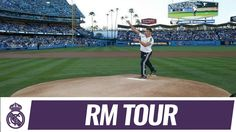 Ver Cristiano Ronaldo throws first pitch at LA Dodgers game