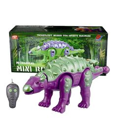 Purple & Green Remote Control Ankylosaurus Dinosaur Toy by A to Z Toys #zulily #zulilyfinds