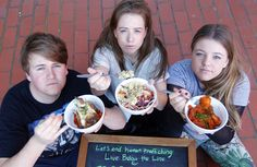 Victoria University students Christopher McDonnell, 18, Brook Wakefield, 20, and Harriet Robinson are taking part in the Live Below the Line Challenge to end human trafficking--joining with NVader.  They plan to join with 100 other students for the project.  They will eat for Au$2.25 per day for 5 days. Their university kitchen is aiding the students by providing 75 cent meals so they can join their fellow students for meals while participating in the challenge.