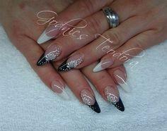 Black and white by Teodora77 - Nail Art Gallery nailartgallery.nailsmag.com by Nails Magazine www.nailsmag.com #nailart