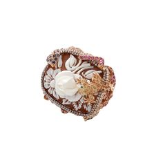 WENDY YUE Carved Pearl Ring