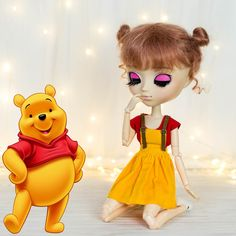 Pullip & Blythe set Winnie the Pooh inspired Winnie The Pooh, Doll Clothes, Disney Characters, Fictional Characters, Beautiful Pictures, Cool Outfits, Etsy Seller, Dolls, Inspired