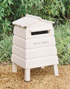 bee hive wedding postbox - annettes dad making one excellent!