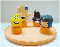 SanDryCreaciones: Emojis con pastas poliméricas para adornar tartas ...