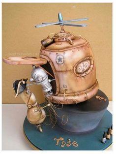 Steampunk Robots Cake