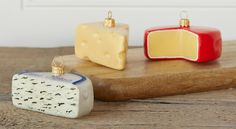 Ornaments to turn your tree into a veritable cheese counter. | 28 Gifts To Make Any Cheese Lover's Dreams Come True