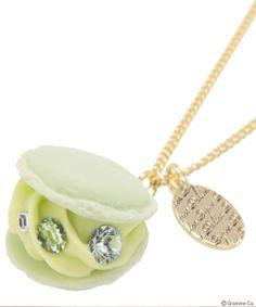Creamy Melon Macaron Necklace
