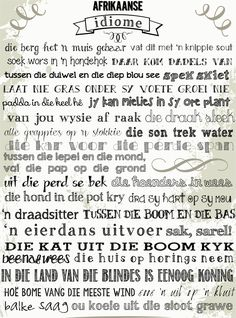 #Afrikaans #Idiome