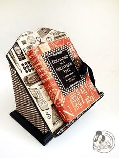 Typography altered book and stand from Diane's workshop! #Graphic45 #alteredart