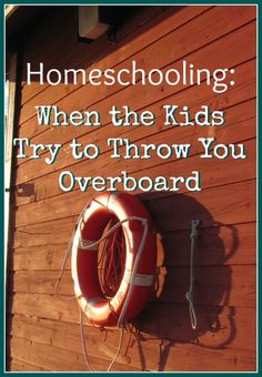 Homeschooling when your kids just won't cooperate. Practical tips for getting through rough spots in homeschool without drowning. #ihsnet