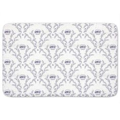 Uneekee Emmas Cherries Blue Bath Mat