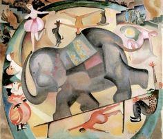 Alice Bailly (Suisse, 1872-1938) – L'Éléphant (1922 ) Collection privée