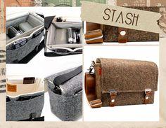 Brown Tweed DSLR Camera Bag :: Stash