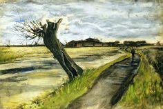 Van Gogh - Pollard Willow: The Hague, Netherlands - 1882