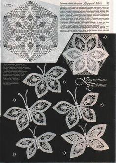 Marisabel crochet: Motivos ( mariposas)