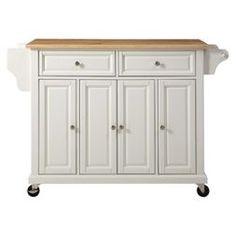 Natural Wood Top Kitchen Cart - Crosley