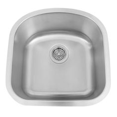 "19"" Infinite D-Shaped Stainless Steel Undermount Prep Sink"