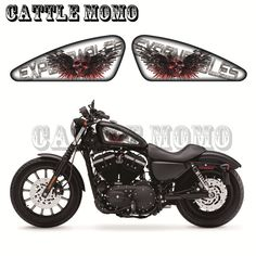 Skull Sticker Motorcycle Fuel Tank Decals Stickers For Sporters XL 883 1200 X/V/R/N/L/C XR1200 48 72 IRON Expendables Graphics #Affiliate